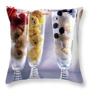 Gourmet Magazine Cover Featuring Ice Cream Throw Pillow