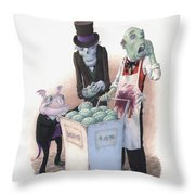 Gourmets Throw Pillow by Richard Moore