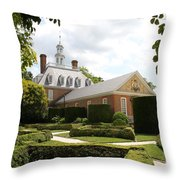 Governers Palace Garden Colonial Williamsburg Va Throw Pillow