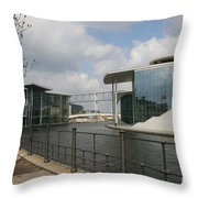 Government Building And Spree Throw Pillow