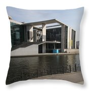 Government Building  Berlin  Throw Pillow