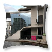 Government District With Reichstag Reflection Throw Pillow