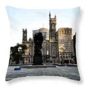 Government Of The People Statue Throw Pillow