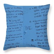 Government Rules  Throw Pillow