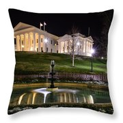 Governor's Mansion Throw Pillow