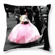 Gown Of Pink Throw Pillow