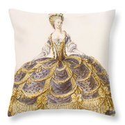 Gown Suitable For Presentation Throw Pillow