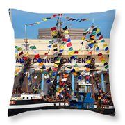 Tampa Convention Center And Gasparilla Throw Pillow