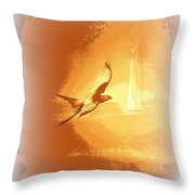 Mississippi Kite - Beauty Into The Light Throw Pillow