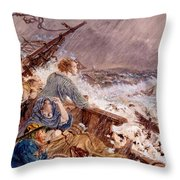 Grace Darling And Her Father Saving Throw Pillow