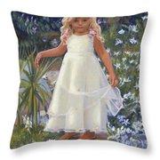 Grace In The Fairy Garden Throw Pillow
