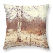 Grace In The Snow. Winter Poems Throw Pillow