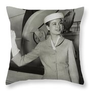 Grace Kelly In 1956 Throw Pillow by Mountain Dreams