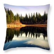 Grace Lake Northern California Throw Pillow