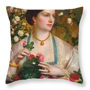 Grace Rose Throw Pillow