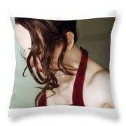 Grace - Self Portrait Throw Pillow