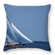 Grace Under Sail Throw Pillow