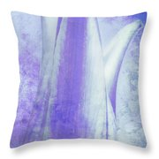 Graced Blossom In Lavender Throw Pillow