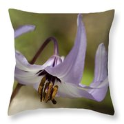 Graceful Fawn Lily Throw Pillow
