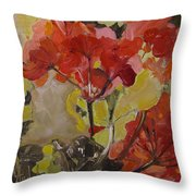 Graceful Geraniums Throw Pillow