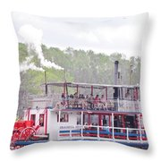 Graceful Ghost Steamboat Throw Pillow