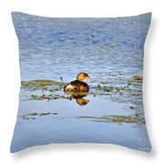 Graceful Grebe Throw Pillow