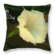 Graceful Moonflower - Happy Mother's Day Throw Pillow