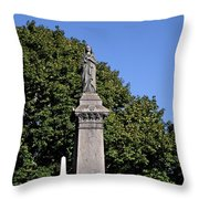 Graceland - Victorian Cemetery Chicago Throw Pillow by Christine Till