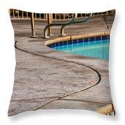 Gracious Curves Palm Springs Throw Pillow