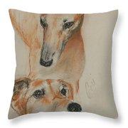 Graciously Greyhound Throw Pillow