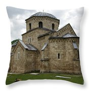 Gradac Monastery Throw Pillow