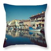 Grado Harbor Throw Pillow