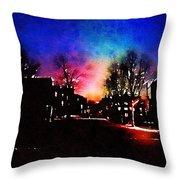 Graduate Housing Princeton University Nightscape Throw Pillow