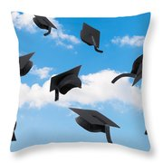 Graduation Mortar Boards Throw Pillow