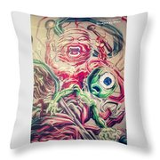 Graff In The City Throw Pillow