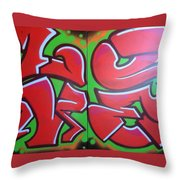 Graff Love Throw Pillow