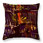 Graffiti 1 Red Throw Pillow