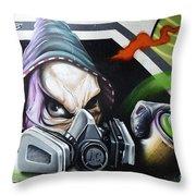 Graffiti Art Curitiba Brazil 18 Throw Pillow by Bob Christopher
