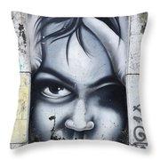 Graffiti Art Curitiba Brazil 2 Throw Pillow
