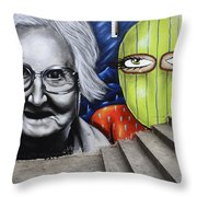 Graffiti Art Curitiba Brazil 3 Throw Pillow