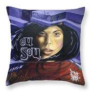 Graffiti Art Rio De Janeiro 3 Throw Pillow