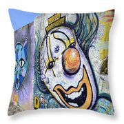 Graffiti Art Santa Catarina Island Brazil 1 Throw Pillow by Bob Christopher