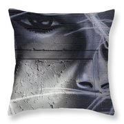 Graffiti Art With Mixed Textures Throw Pillow