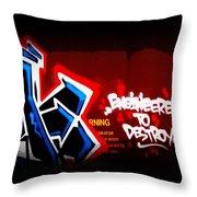 Graffiti - Box Car Art  7097-008 Throw Pillow