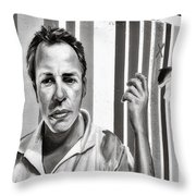 Graffiti In Chicago Il Throw Pillow by Christine Till