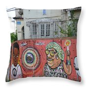Graffiti In Salvador Throw Pillow