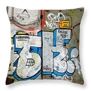 Graffiti In Sozopol Throw Pillow