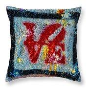 Graffiti Love Throw Pillow