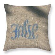 Graffiti Of False In Blue Throw Pillow