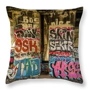 Graffiti On The Walls, Tenth Street Throw Pillow